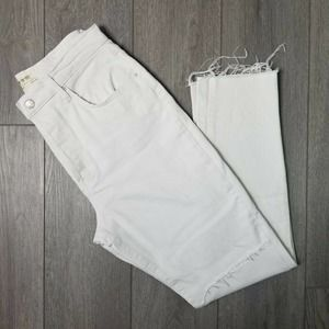 FP We The Free Button Fly Jeans High Rise 31 White